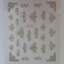 Sticker zilver nail art