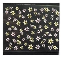 Nail art sticker 3D met bloemen