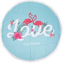 Beach towel Flamingo LOVE