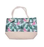 Strand tas met Flamingo Jungle