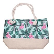 Strand tas met Flamingo Jungle