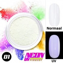 UV Pigment poeder Neon Wit