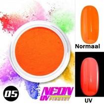 UV Pigment poeder Neon Donker Oranje