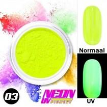 UV Pigment poeder Neon Geel