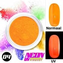 UV Pigment poeder Neon Licht Oranje