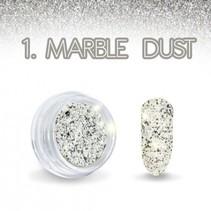 Marble Dust Zwart/Wit