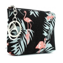 Flamingo Portemonnee met sleutelhanger