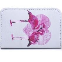 Flamingo Portemonnee met roze hart
