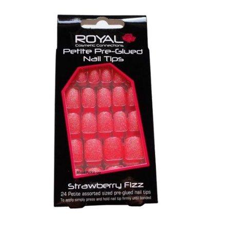 Full cover nageltips Roze glitters, pre glued
