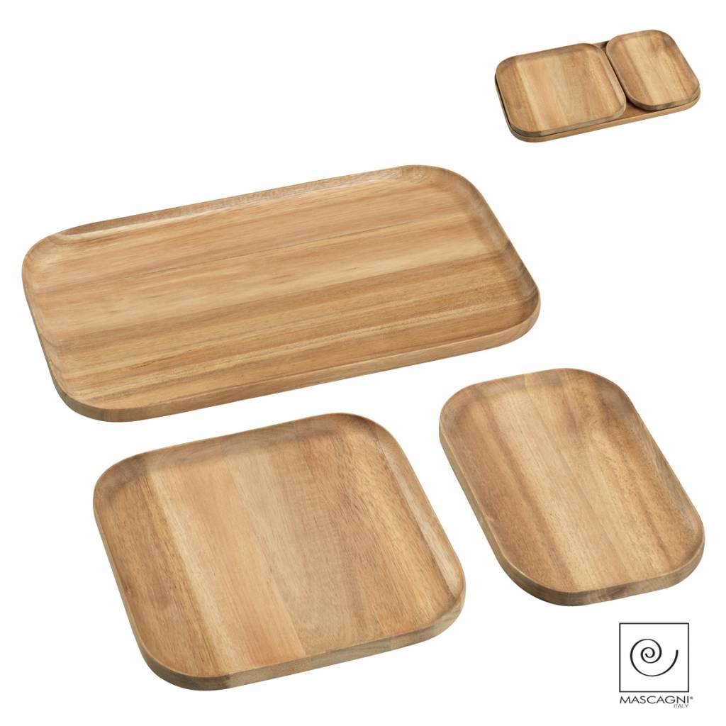 Mascagni A757 set houten dienbladen eiken