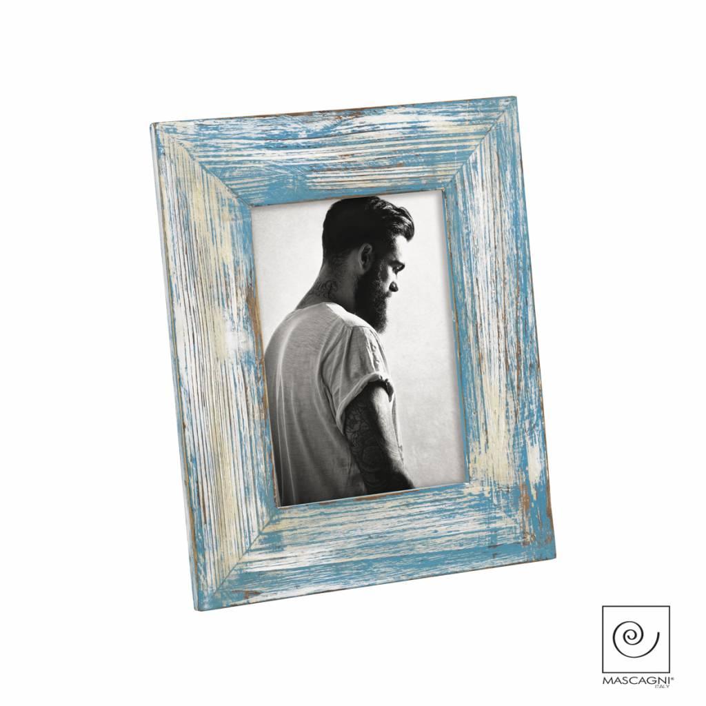 Mascagni A763 houten fotolijst blauw