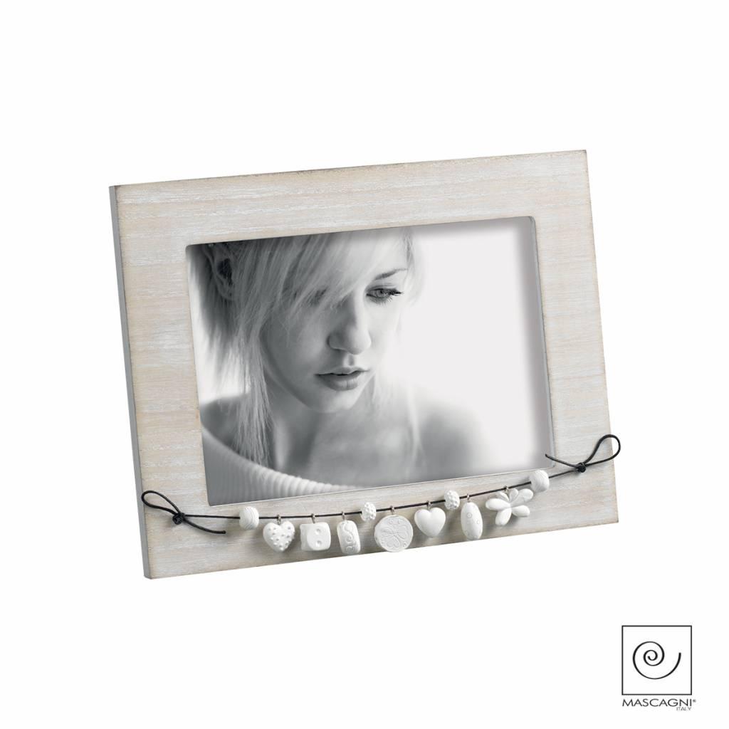 Mascagni A718 houten fotolijst wit