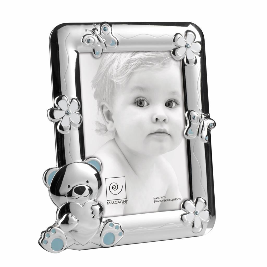 Mascagni A186 zilveren fotolijst lichtblauwe
