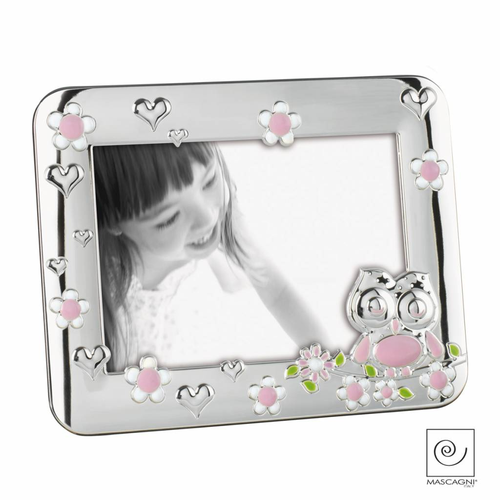 Mascagni A226 zilveren fotolijst roze