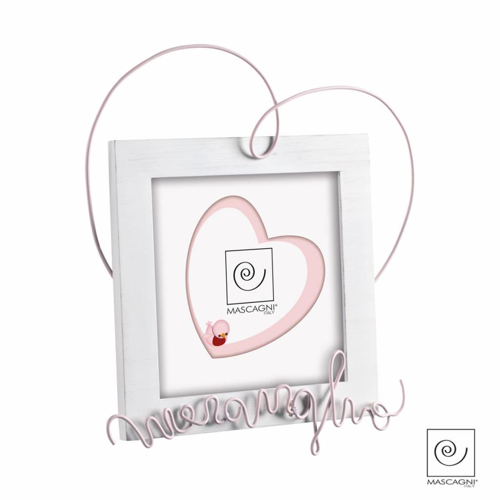 Mascagni A354 houten fotolijst roze