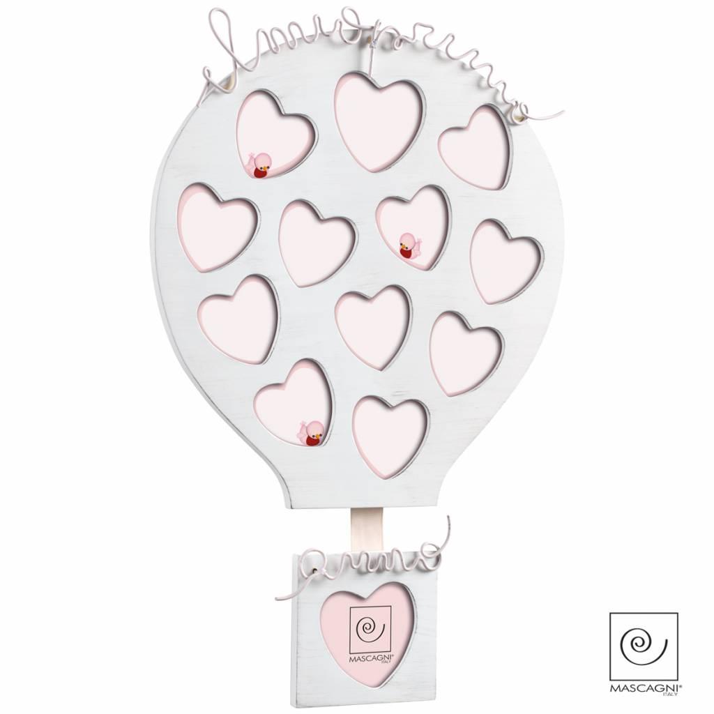 Mascagni A355 houten collagelijst roze