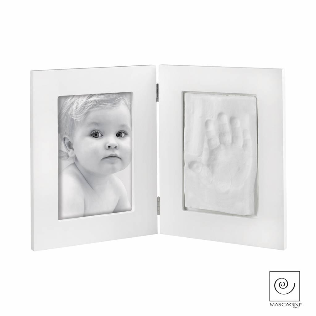 Mascagni A689 houten fotolijst met afdruk wit