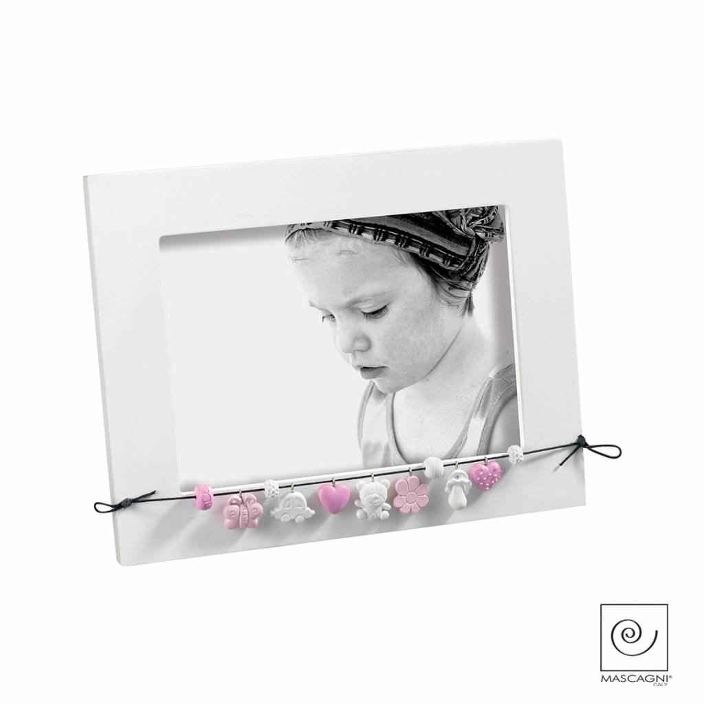 Mascagni A717 houten fotolijst roze