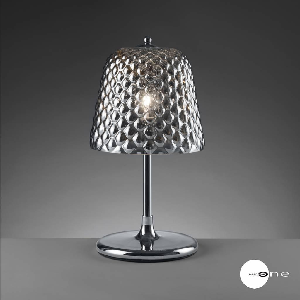 Mascagni One O1402 glazen tafellamp staal