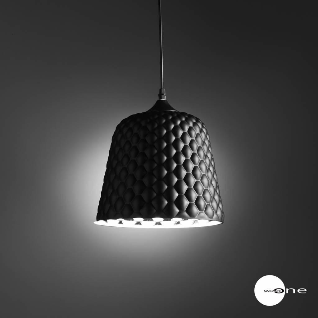 Mascagni One O1403 glazen plafondlamp zwart