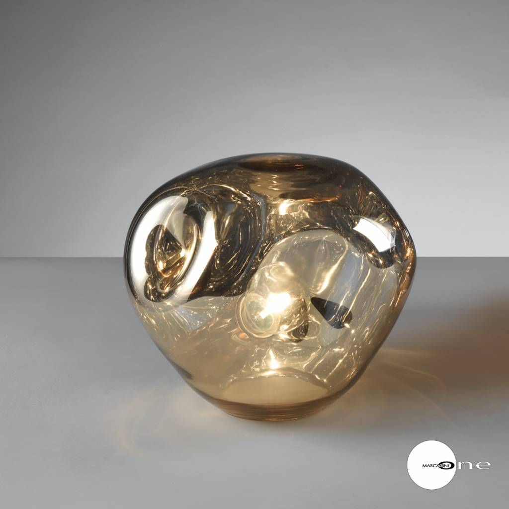 Mascagni One O1404 glazen tafellamp goud
