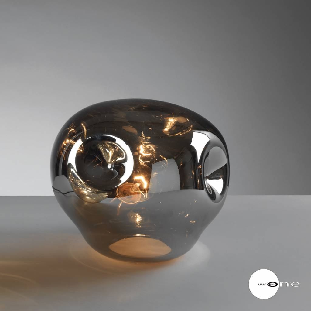 Mascagni One O1404 glazen tafellamp zilver