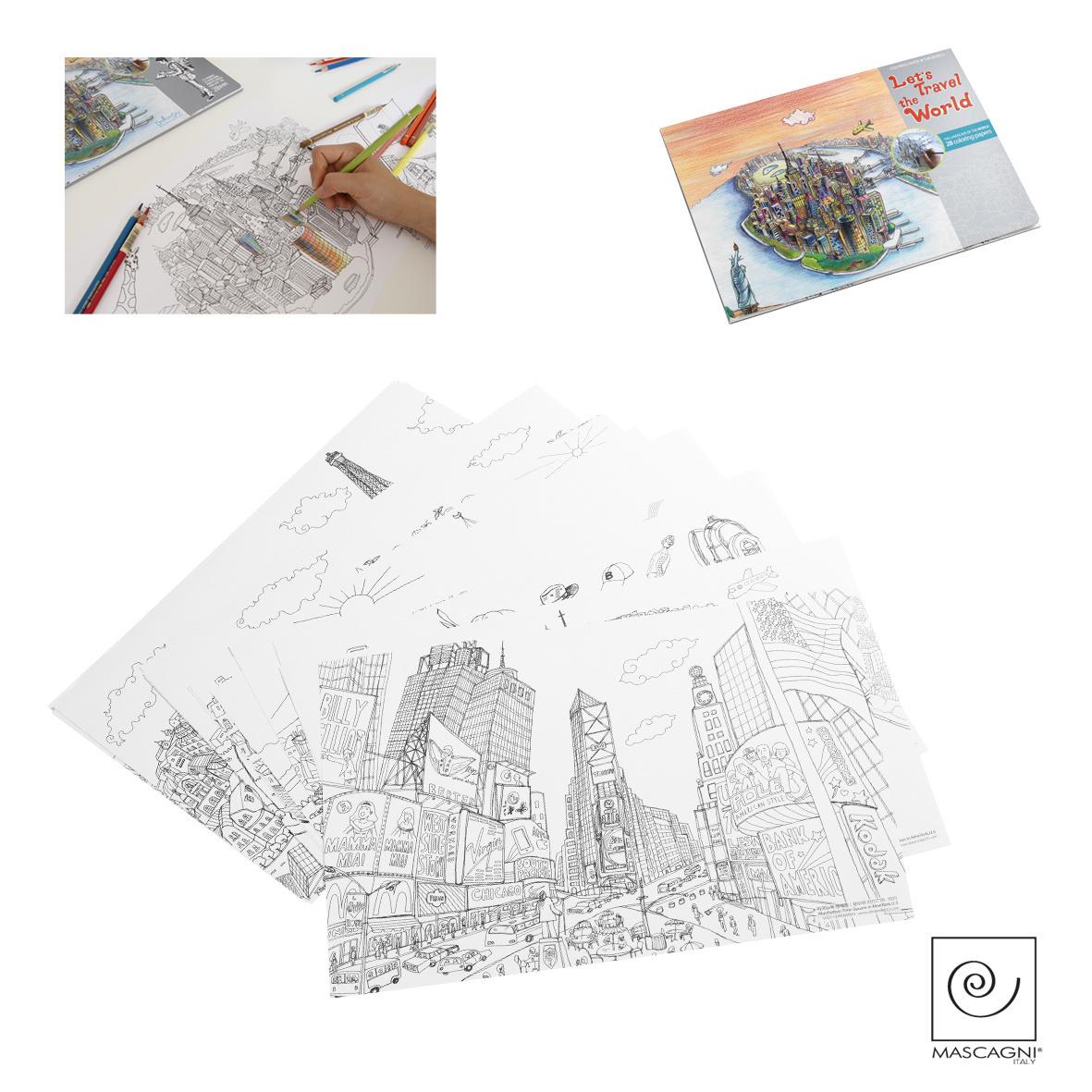 Art Mascagni A793 SET 20 COLORING PAGES