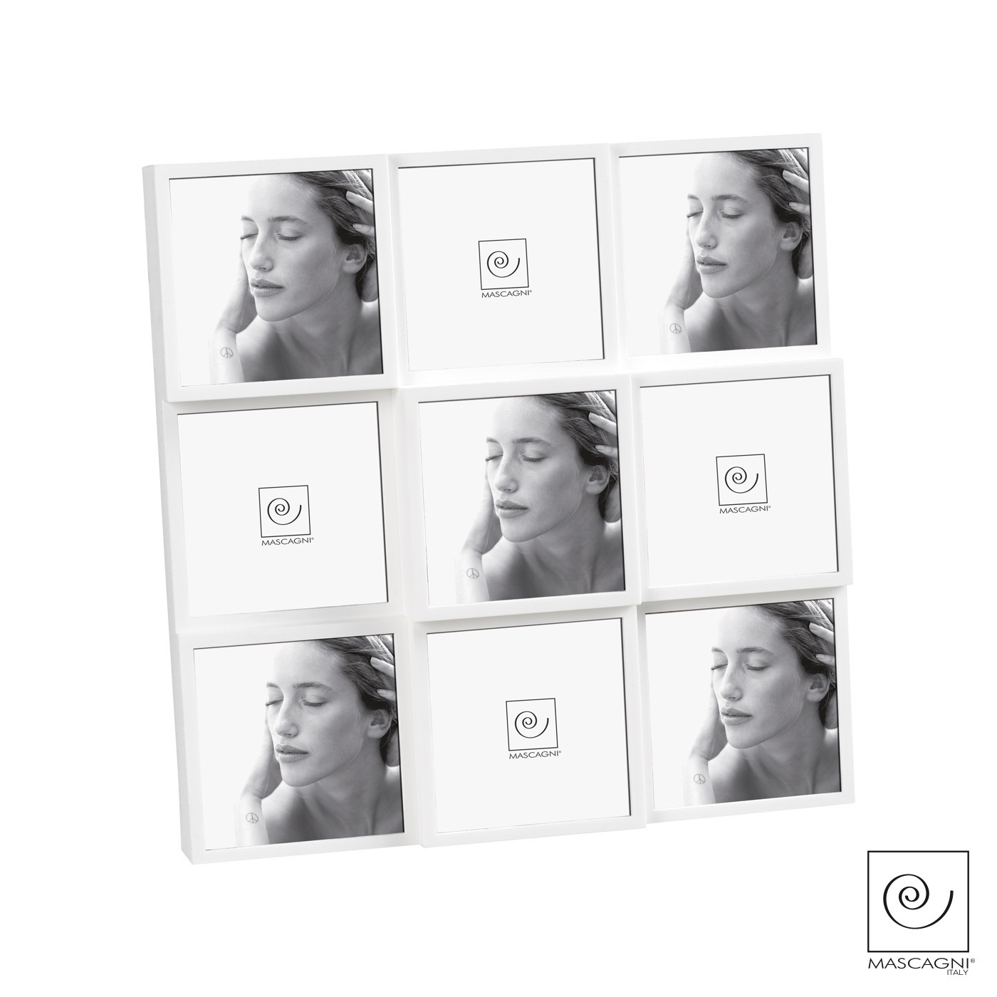 Art Mascagni A907 MULTIPLE FRAME 9 PHOTOS COL.WHITE