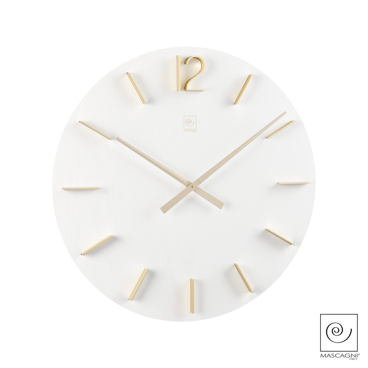 Art Mascagni M578 CLOCK DIAM.50 - COL.WHITE