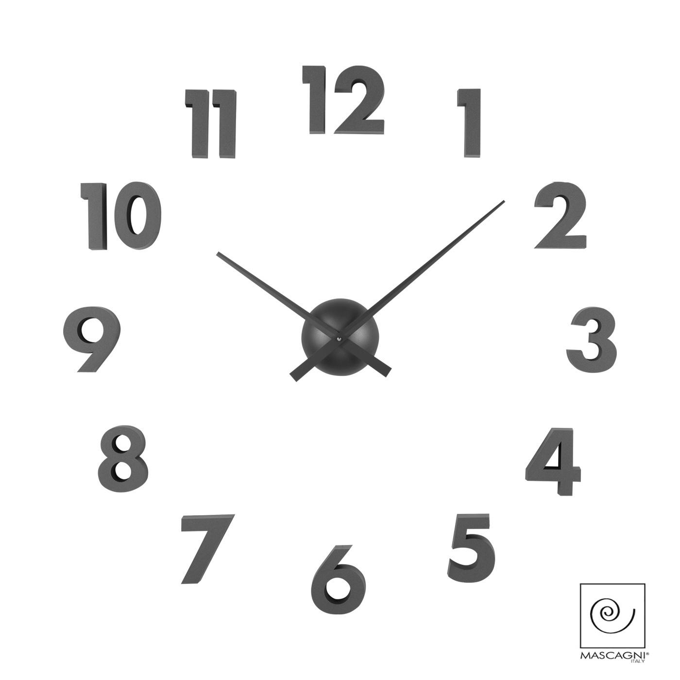 Art Mascagni M580 CLOCK DIAM.60 - COL. GUNMETAL