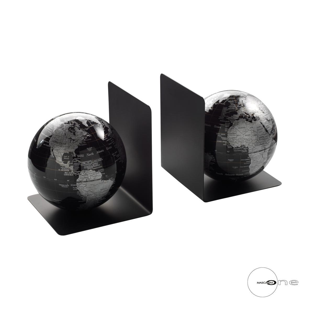 Art Mascagni O1243 PAIR BOOK-STOP - BLACK COLOUR