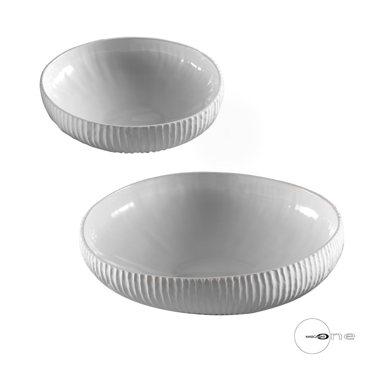 Art Mascagni O1419 SET 2 BOWL - COL.WHITE