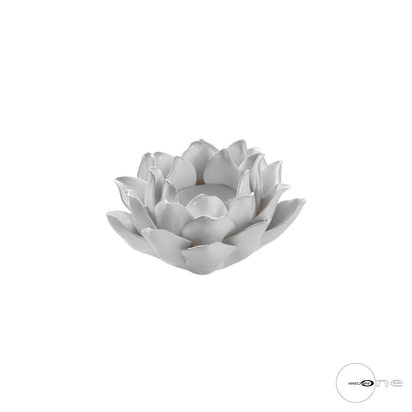 Art Mascagni O1501 CANDLE HOLDER 10,8X5 - COL.WHITE