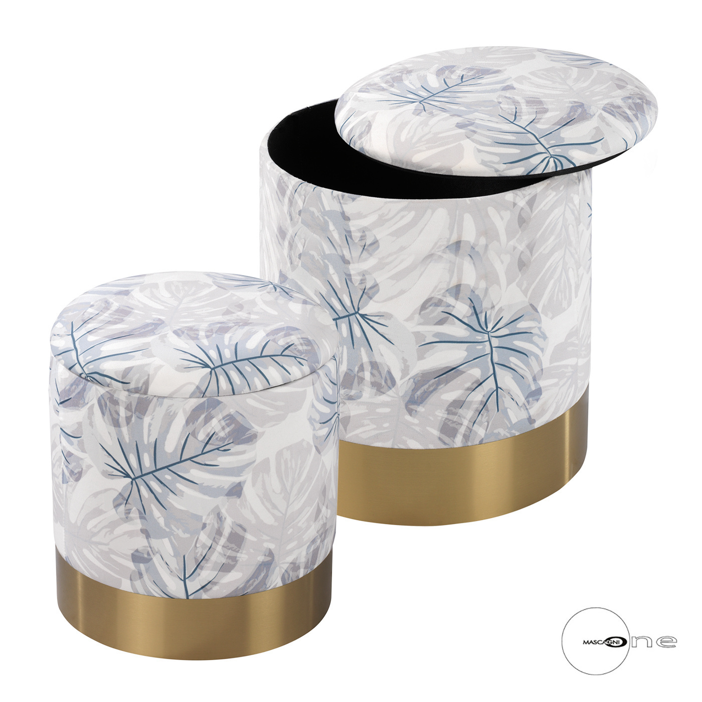 Art Mascagni O1512 SET 2 POUF - COL.GREY