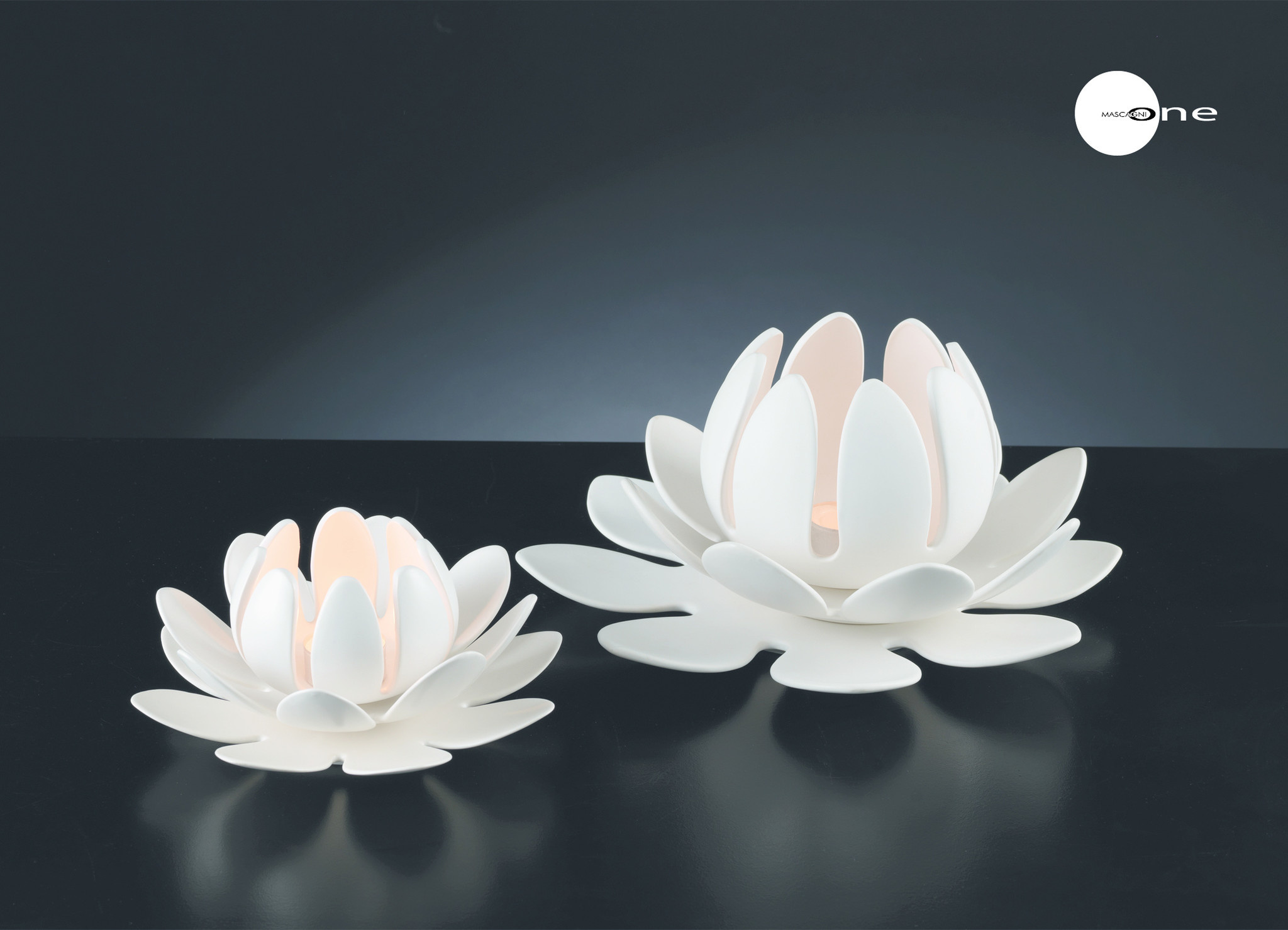 Art Mascagni O385 SET CANDLE HOLDER - COL.WHITE