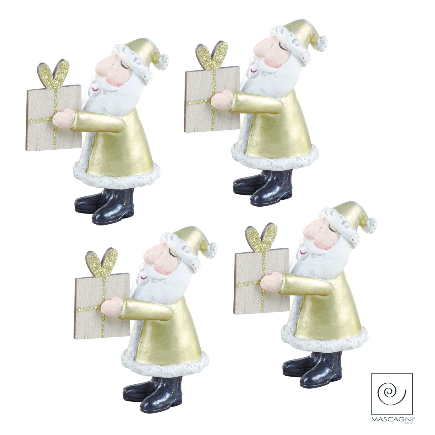 Art Mascagni SET 4 SANTA CLAUS CM.10