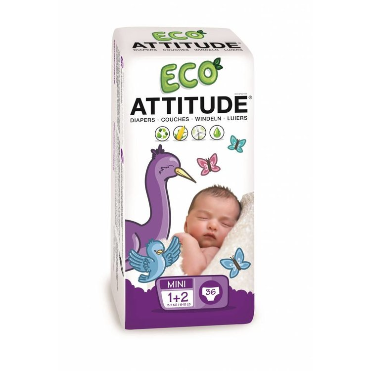 Attitude Ecologische luiers maat 1+2  (3-7kg)