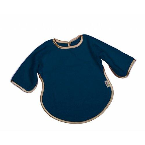 Timboo Slabbetje lange mouwen - blauw/goud
