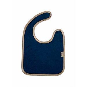 Timboo Slabbetje met drukknop - blauw/goud