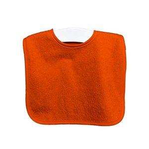 Timboo Slabbetje met drukknop - oranje