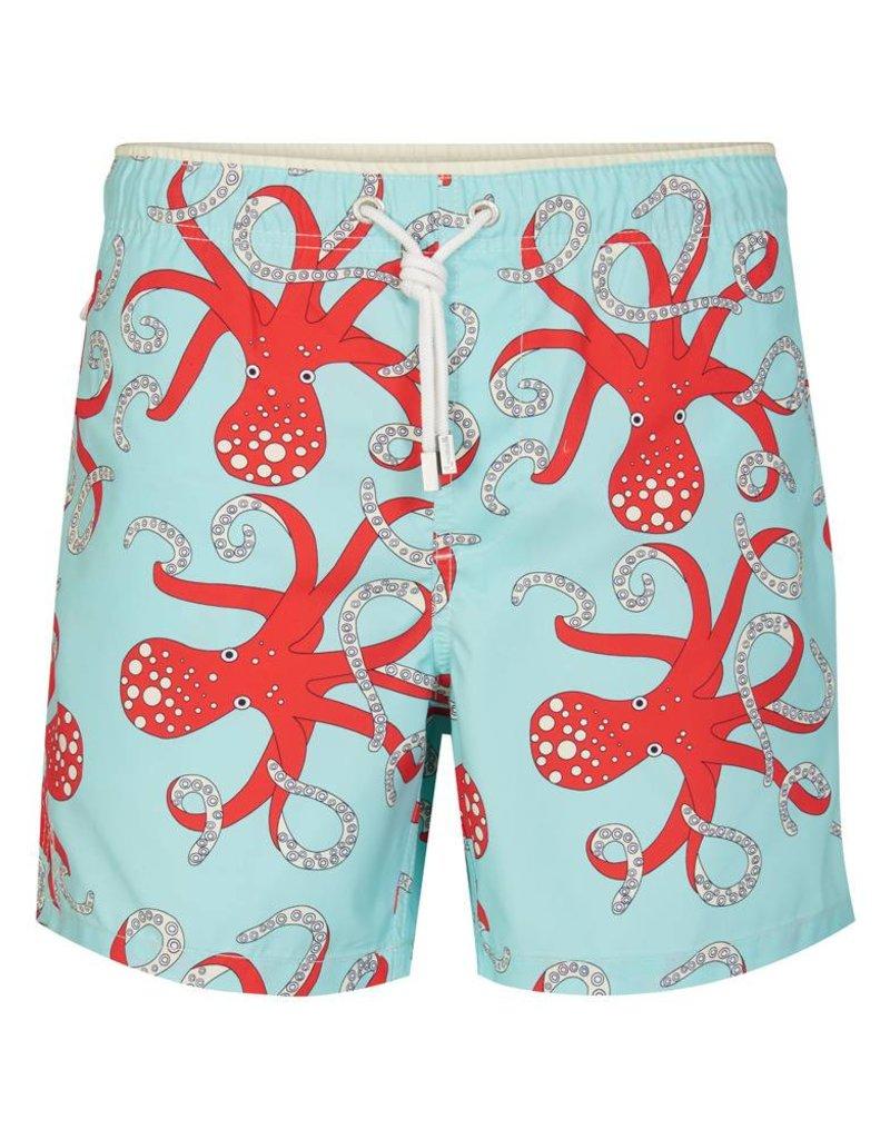 Ramatuelle Zwembroek Heren.Ramatuelle Heren Zwembroek Octopussy Rood Klassiek Model Zwembroek