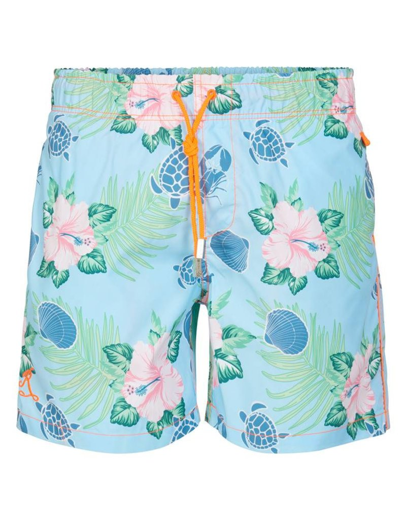 Zwembroek Bloemen Heren.Heren Zwembroek Fiji Oranje Klassiek Model Ramatuelle Beachwear