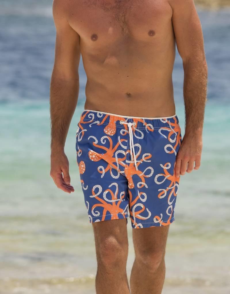 e6c89e06efcf2 Ramatuelle Octopussy Men's Swim shorts Red | Classic Fit ...
