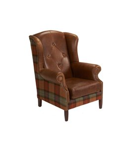 Wingchair Leather & Wool