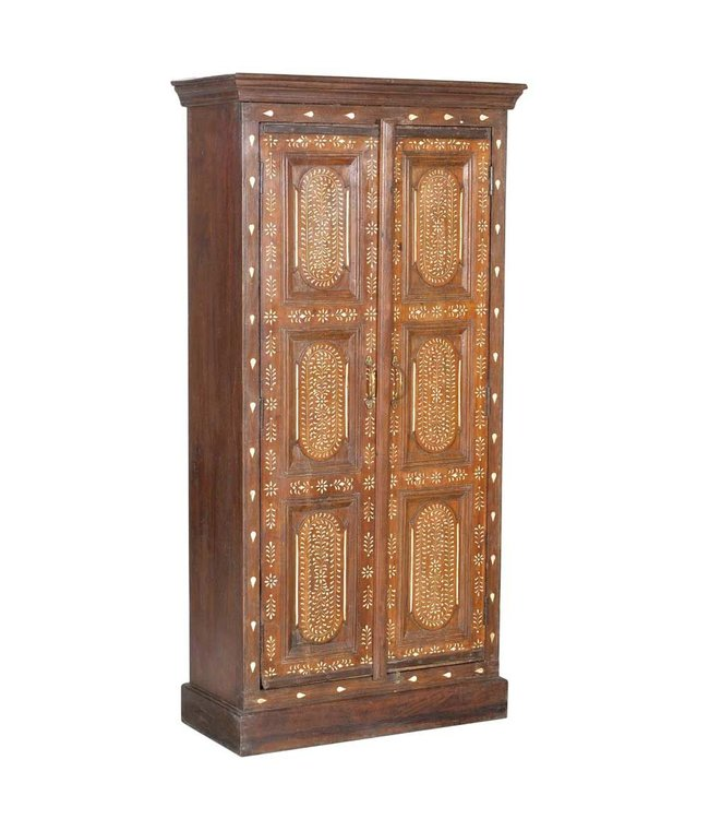 Indian Cabinet with Bone Inlay