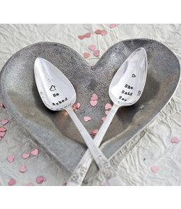 Teaspoon - He Asked/She Said yes Set of 2