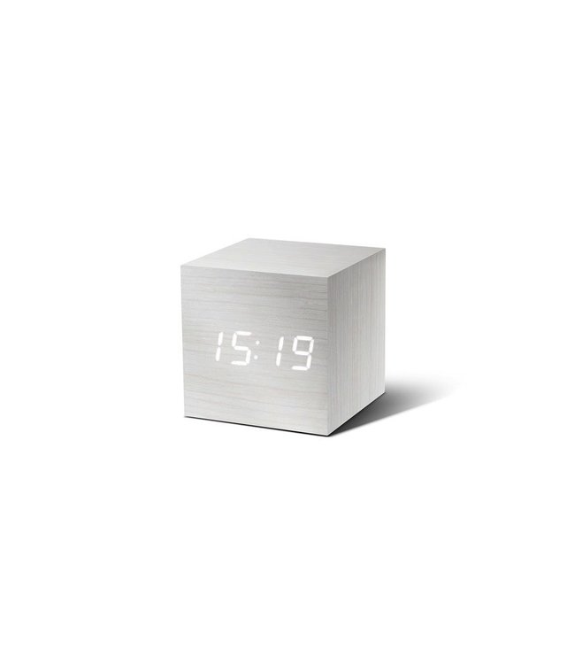 Cube Click Clock white with White LED