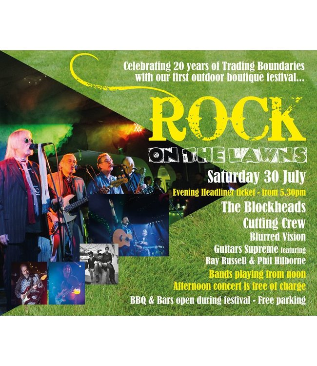 Rock on the Lawns <br>Saturday 30th July</br>