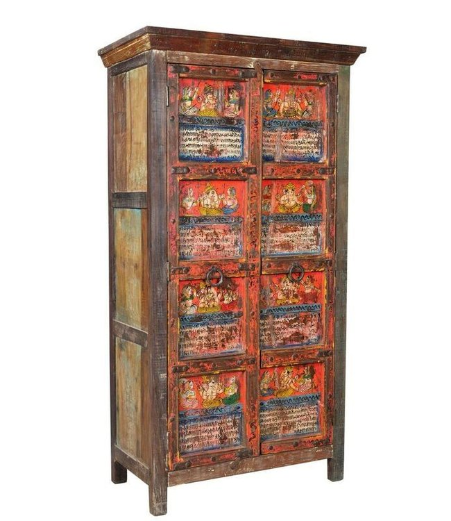 Beautiful Painted Indian Cupboard