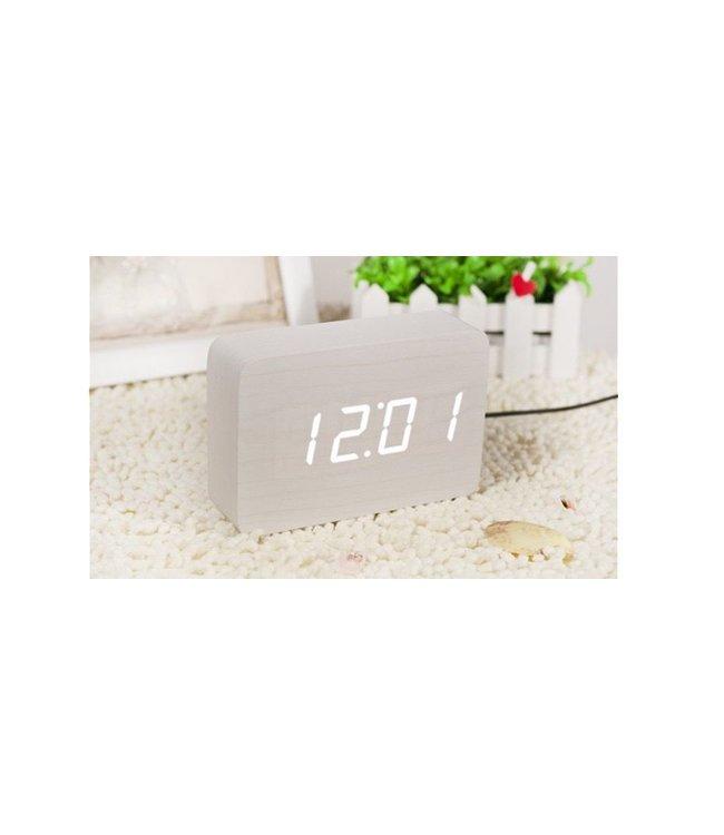 Brick White Click Clock/White LED